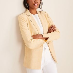 Ann Taylor Crosshatch Long Blazer (Yellow)